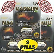 # 1 MAGNUM PLATINUM 250K MALE SEXUAL LIBIDO ENHANCEMENT PILL STAMINA, SIZE TIME