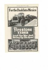 VINTAGE 1916 FIRESTONE TRUCK TIRES DASH INTO MEXICO AERO SQUADRON AD PRINT