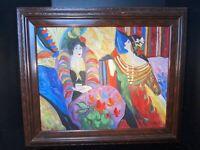 J Gamah Ladies Having Tea Original Signed Oil Painting Impressionist Style Art