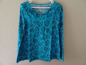 NWT JUSTICE SIZE 16 LANTERN SLEEVE PEASANT TOP BLUE NEW PRINTED
