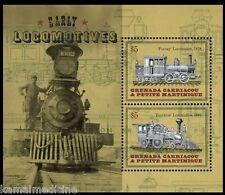 Grenada Grenadines 2014 MNH SS, Early Locomotives, Train, Railways (T1)