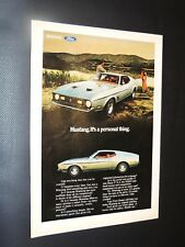 Vintage 1971 Ford Mustang Mach I print ad **FREE SHIPPING**