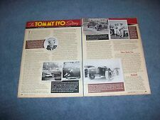 """2012 TV Tommy Ivo History Profile Article """"The Tommy Ivo Story"""""""