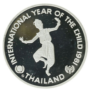 Thailand - Silver 200 Baht Coin - 'Year of the Child' - 1981 - Proof