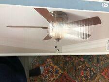 Hampton Bay Hawkins 44 in Brushed Nickel Ceiling Fan 5 Blade