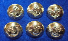 6 X 1 INCH (25MM) LIGHT INFANTRY ANODISED GOLD MILITARY BUTTONS, FIRMIN