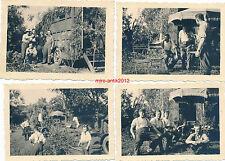 4 x Foto, Wehrmacht, Funkwagen getarnt, Saint-Brevin-les-Pins, Frankreich