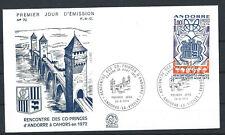 Andorre - FDC  Enveloppe 24/8/1974 - N°239 Rencontre des Co-Prince d'Andorre