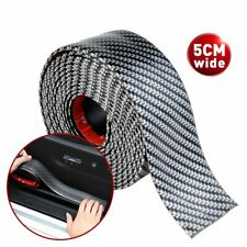 Anti Scratch Sticker Car Carbon Fiber Door Plate Bumper Sill Scuff Cover 2m5cm