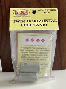 N Scale Bar Mills 02002 Twin Horizontal Fuel Tanks Kit  J4913