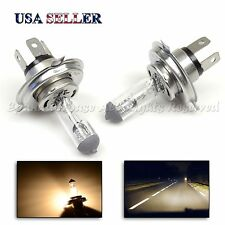 2PC H4/HB2 HALOGEN HEADLIGHT BULBS 60/55W 4300K XENON COLOR FOR USA CARS REPLACE