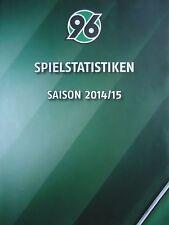 Spielstatistik 2014/15 Hannover 96 - Werder Bremen