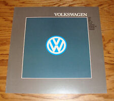 Original 1988 Volkswagen VW Full Line Sales Brochure 88 Jetta Golf Vanagon