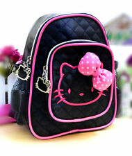 hello kitty black hot neon pink adorable cute girls women small backpack bag