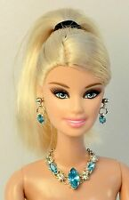 Barbie Doll Repro Vintage FR Handmade Necklace Earrings Jewelry Set NE100066