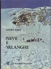 Neve e valanghe: struttura e origine delle valanghe le opere di soccorso; tecnol