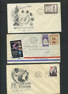 Argentinien 3 Briefe aus 1955 - 1959  #m428