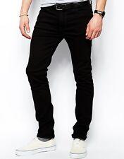 Men's Nudie  HIGH KAI ORGANIC BLACK BLACK Stretch Jeans Size: W25 L32