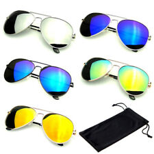 Солнцезащитные очки Авиатор зеркальные мужские, женские UV400 новый объектив цвет рамы ретро винтаж