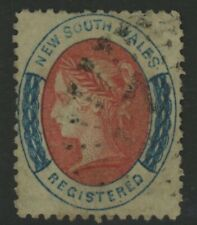 NSW, USED, #F5a, PRUSSIAN BLUE, NICE CENTERING