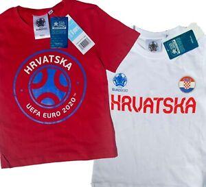 EURO 2020 EM 2021 Kroatien Kinder TRIKOT T-Shirt UEFA OFFICIAL 116 128 140 152