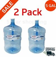 2 Pack 5 gallon water bottle BPA-FREE liquid container big reusable jug durable