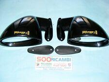 FIAT 500 F/L/R 126 COPPIA SPECCHI LATERALE CALIFORNIAN DX + SX NERO LUCIDI NUOVI