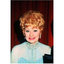 Lucille Ball Close Up Smile in Blue Looking Beautiful 8 x 10 Inch Photo