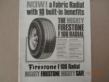Firestone F 100 Radial tyre. Advert.