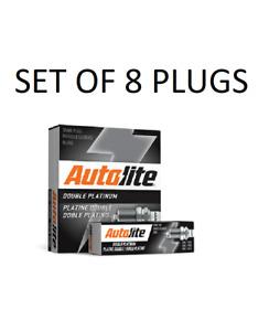 Set of 8 Autolite APP5224 Spark Plugs - Double Platinum