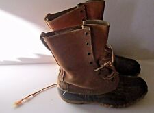 Used and Abused Ll Bean Men's 7 Gumshoe Maine Hunting Shoe Boots Vintage