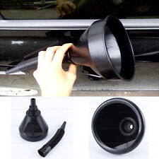 Flexible Black Plastic Flexi Funnel Can Spout For Oil Water Fuel Petrol Diesel