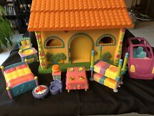 Dora the Explorer Talking House with Accessories Furniture Car Dollhouse Works