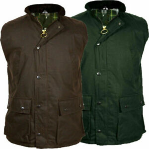 Mens Adults Wax Body Warmer Gilet Waistcoat Country Wear Hunting Jacket