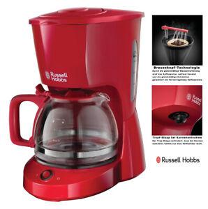 Russell Hobbs Kaffeemaschine Rot 10 Tassen Tropf-Stopp 22611-56