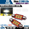 CANBUS 3 SMD LED 36mm 239 272 C5W XENON WHITE NUMBER PLATE LIGHT BULB ERROR FREE