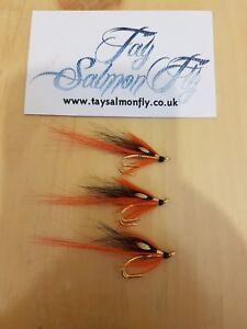 3x Pert Shrimp Gold Double Size 12 Salmon Fishing Flies New