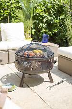 58116 La Hacienda Wildfire Round Bronze Steel Bowl Fire Pit Wood Burner