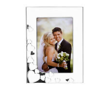 Portrait Picture Frame Heart Frame from Metal White Silver Photo Frame Love New