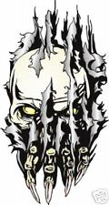 """SKULL IN RIP HOOD DECAL COLOR GRAPHIC 24"""" x 13"""""""