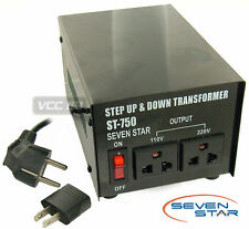 750w watt 110/220 Step Up Step Down Transformer new 750 Voltage Converter