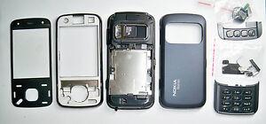 Black full Fascia cover housing faceplate facia case for Nokia N86