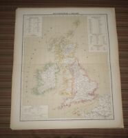 Carl Flemming  Map of England and Ireland. Circa 1850. Map in German
