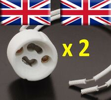 2 x GU10 Bulb Lamp Holder Mains Base Connector Downlighter fitting --- UK