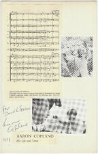 AARON COPLAND SIGNATURE ON CARD BM9754