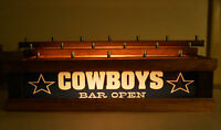 REMOTE CONTROL COWBOYS BEER Tap handle display HOLDS 18 TAPS LED BAR SIGN