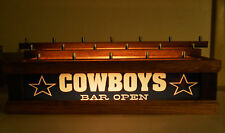 COWBOYS LIGHTED BEER Tap handle display HOLDS 18 TAPS ON 3 LEVELS - LED BAR SIGN