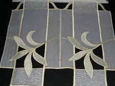 16 cm breite Scheibengardine Plauener Spitze Kurzgardine Panneaux
