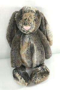 """Jellycat Bashful Large Woodland Bunny Babe 15"""" stuffed animal plush Brown Gray"""