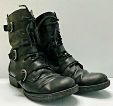 BORN size 10 or 42 MARXIA black leather motorcycle ankle boots shoes